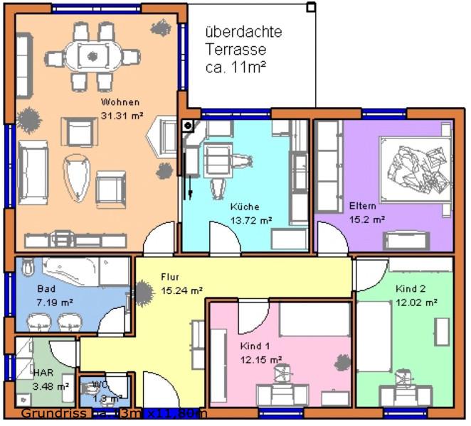 winkelbungalow luca ca 117 m mhv baupartner massivhaus. Black Bedroom Furniture Sets. Home Design Ideas