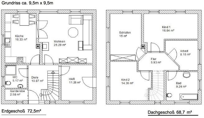 stadtvilla grundriss 130 qm die sch nsten einrichtungsideen. Black Bedroom Furniture Sets. Home Design Ideas
