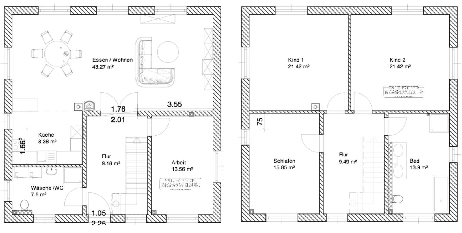 Grundriss stadtvilla 140 qm  Stadtvilla Katrin-Langewiesen ca. 164 m² - MHV Baupartner Massivhaus