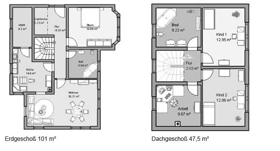 laura das mediterane 149m mhv baupartner massivhaus. Black Bedroom Furniture Sets. Home Design Ideas