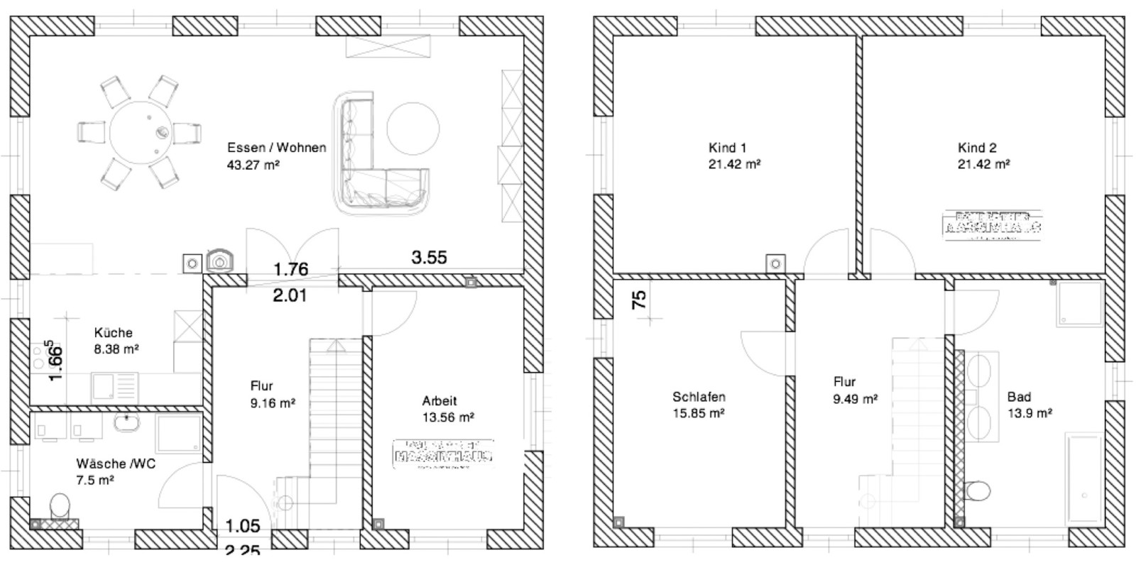 stadtvilla katrin langewiesen ca 164 m mhv baupartner massivhaus. Black Bedroom Furniture Sets. Home Design Ideas