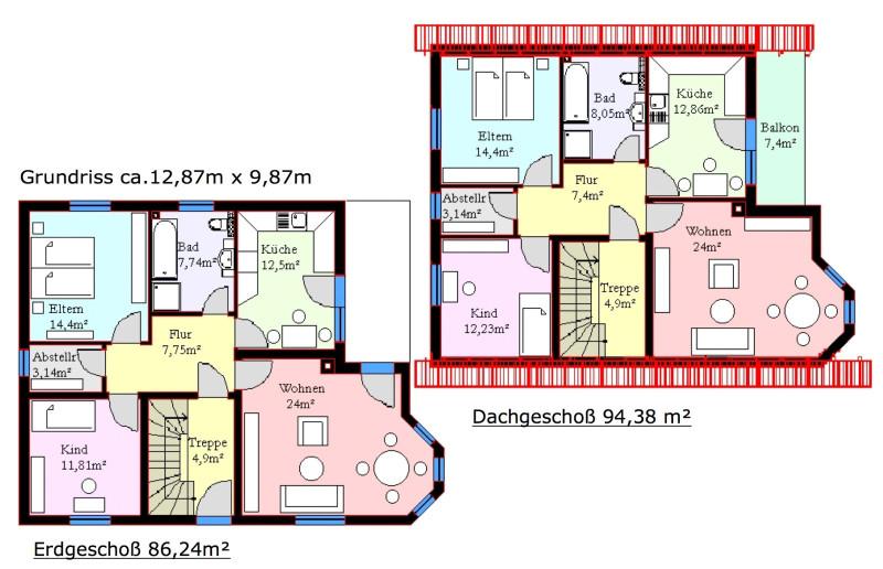 Monica zweifamilienhaus ca 181 m mhv baupartner massivhaus for Zweifamilienhaus grundriss