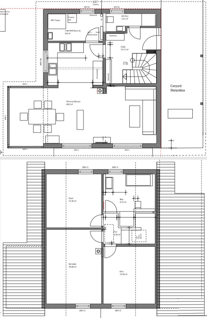 Massivhaus Katharina - Größe Maße